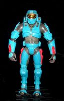 Halo 2: Cyan (blue) Spartan Soldier - Loose Action Figure [Joyride Toys]
